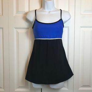 Anne Klein Blue Black Swimsuit Swimdress sz 8